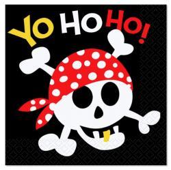 Serviettes Anniversaire Pirate