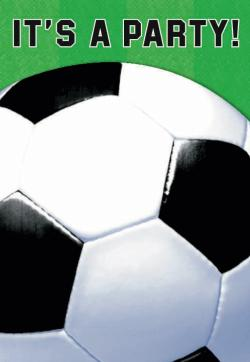 Invitations ballons de football