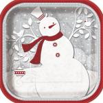 Grandes Assiettes bonhomme de neige