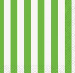 Petites Serviettes avec Rayures Vertes et Blanches