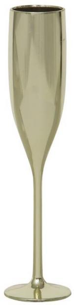 Flutes à champagne plastique couleur or