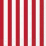 Déguisements Serviettes en Papier Rayures Rouges et Blanches