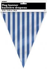Déguisements Guirlande Fanion à Rayures Bleues et Blanches