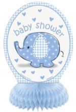 Déguisements Décoration centre de table baby shower éléphant bleu