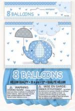 Ballons baby shower éléphant bleu