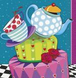 16 Serviettes anniversaire tasses et compagnie