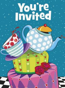8 Invitations anniversaire tasses et compagnie