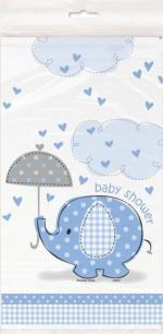 Nappe plastique éléphant bleu