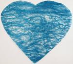 Confettis de table en forme de coeur turquoise