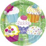 Déguisements 8 Assiettes anniversaire Cupcake