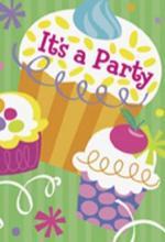 8 Cartes d' invitations anniversaire Cupcake