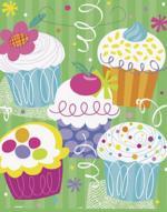 8 Sachets cadeaux anniversaire Cupcake