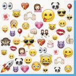 16 Serviettes anniversaire Emoji Smiley