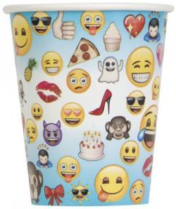 8 Gobelets anniversaire Emoji Smiley