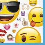 16 Petites Serviettes Emoji Smiley