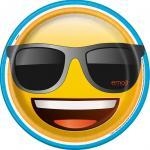 8 Assiettes Emoji Smiley