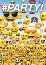 8 Cartes d'invitation Emoji Smiley