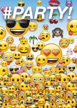 8 Cartes d'invitation Emoji Smiley