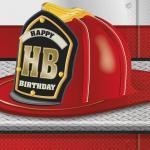 Déguisements 16 Serviettes anniversaire pompier