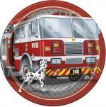 Déguisements 8 Assiettes anniversaire pompier