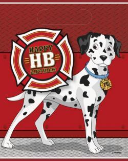 8 Sachets cadeaux anniversaire pompier