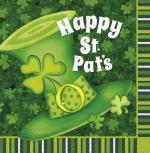 Déguisements 16 Serviettes chapeau Saint Patrick