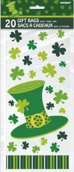 Déguisements 20 Sachets cadeaux chapeau Saint Patrick