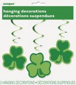 3 décorations suspendues trèfle Saint Patrick