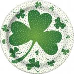 Déguisements 8 Assiettes trèfles Saint Patrick