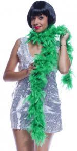 Boa vert à plumes 50 g
