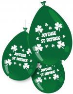 10 ballons vert trèfles Joyeuse Saint Patrick