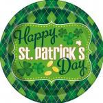 Déguisements 8 Assiettes arlequin Saint Patrick