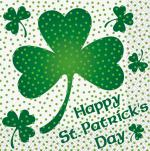 Déguisements 16 Serviettes trèfles Saint Patrick