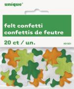 Confettis en feutre et en forme de trèfles