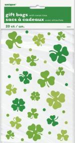 Déguisements 20 Sachets cadeaux trèfles Saint Patrick