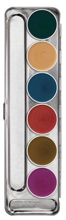 Palette maquillage fard gras 6 couleurs interferenz