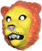 Masque lion en plastique