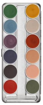 Palette maquillage fard gras 12 couleurs interferenz