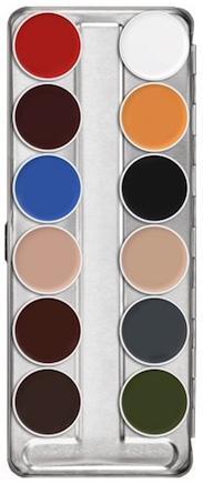 Palette maquillage fard gras 12 couleurs supracolor