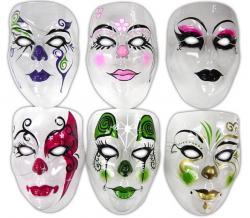Masque transparent décoré