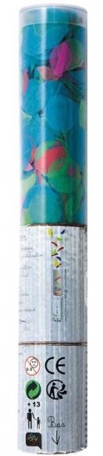 Déguisements Canon à confettis ronds multicolores