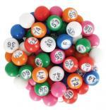 Boules de loto numérotées