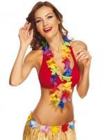 Collier hawaïen tissu multicolore