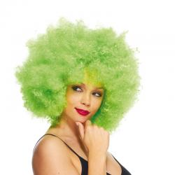 Perruque super afro vert pas cher