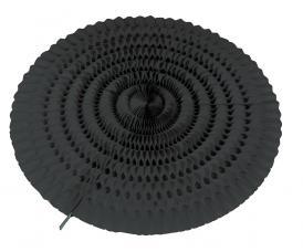 eventail noir en papier ignifuge