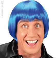 perruque rave bleu