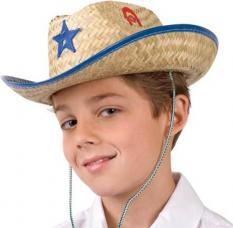 chapeau cowboy paille enfant
