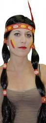 Perruque Indienne avec nattes pas cher