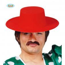chapeau espagnol floque rouge