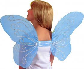 ailes de papillon bleu pailletees